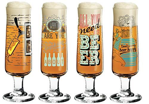 RITZENHOFF Beer bierglas set van 4 incl. glazen poetsdoek Shinobu Ito, Frank Keler, Potts, Natalia Yablunovska collectie voorjaar 2019