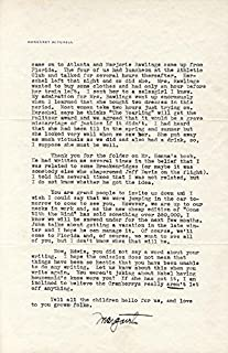 Margaret Mitchell - Typed Letter Signed 11/21/1938