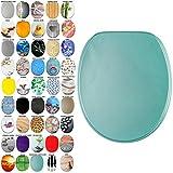 Abattant WC - Grande sélection - Finition de Haute qualité - Charnières Robustes - Fixation Facile (Turquoise Scintillant)