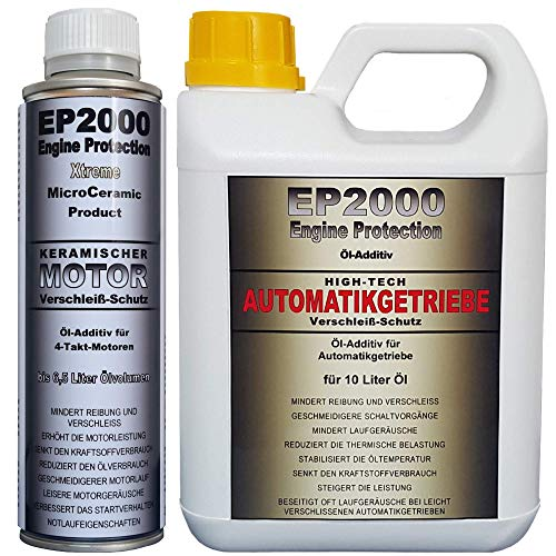 Röde-Technik EP2000 Motor & Automatikgetriebe-Additiv [Set] (Motor: 325 ml (für 6,5 l Öl), Automatikgetriebe: 1 l (für 10 l Öl))