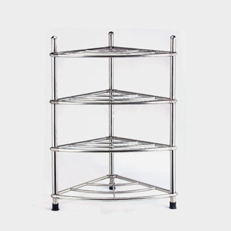 Cpp Shelf Multilayer Stainless Steel washbasin Rack Tripod Kitchen Bathroom Floor Rack (color   39  70cm)