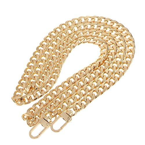 perfk Taschenzubehör Metall Taschenbügel Kette Trageriemen Schulterriemen Schultergurt Tragegurt Taschenkette - Gold, 120 cm