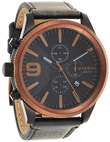 Diesel Reloj Cronógrafo para Hombre de Cuarzo con Correa en Cuero DZ4445