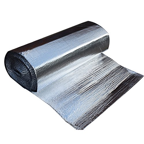 Hypergreens IR Blocker | Double Layers Bubble Foil Aluminum Mylar Infra-Red Blocking Film | 47' x 100' x 1/8' Thickness