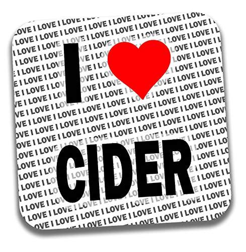 I love Cider Getränke Untersetzer–Geschenk–Geburtstag–Weihnachten–Strumpffüller