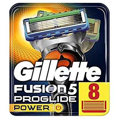 Gillette Fusion5 ProGlide Power Razor Blades for Men with FlexBall Technology That Responds to Contours, 8 Refills (Packaging May Vary) from Procter & Gamble