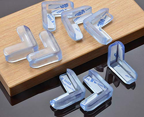 Baby Proofing Corner Guards,Edge Corner Protector,Best Clear Transparent Table Edge Protectors Bumper, Keep Child Baby Safe, Protectors for Furniture Cabinet Against Sharp Corners (4 Pack)