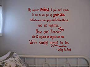 Yilooom The Nightmare Before Christmas Wall Quote My Dearest Friend Jack and Sally Large