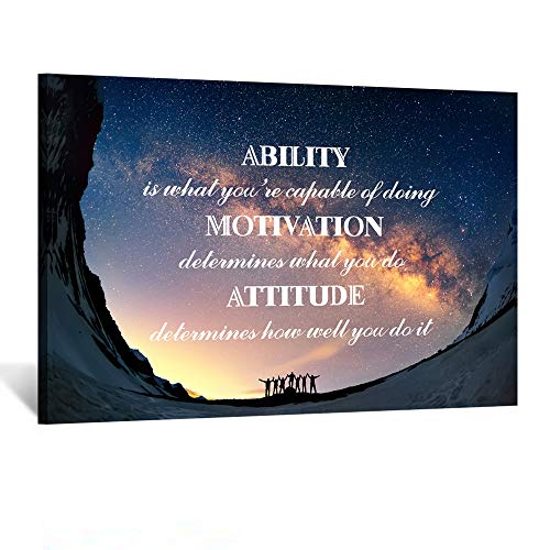 Kreative Arts Large Canvas Quotes Wall Art Ability is What You're Capable of Doing Motivation Attitude Inspirational Saying Posters and Prints Home Decor Decals Family Words Quote Ready to Hang 24x36