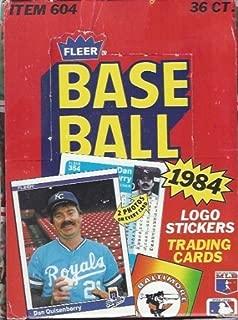 1984 fleer baseball box
