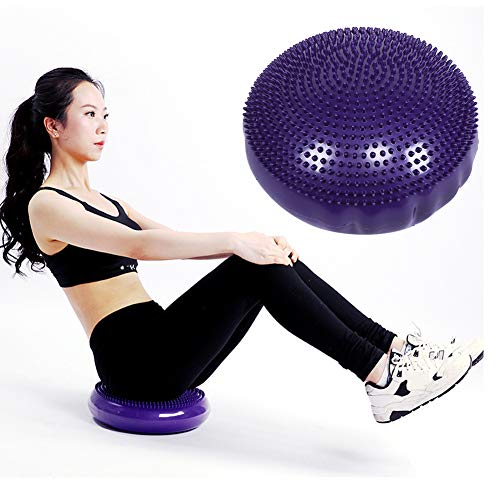 Aufee Yoga Balance Relaxing Cushion, Inflatable Yoga Balance Board Disc Gym Stability Air Cushion Double-sided Massage Pad
