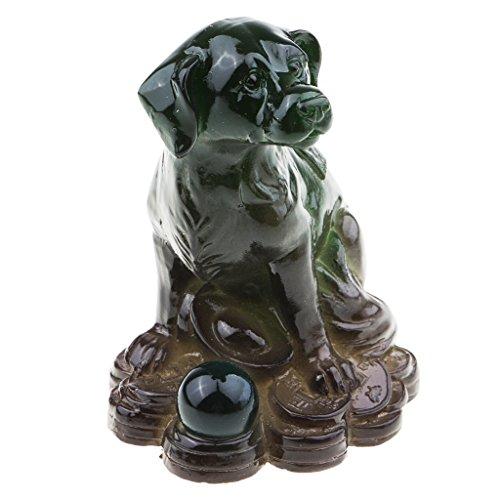 Homyl Statue Allochroïque de Douze Signes Chinoise en Résine Mini Sculpture Tea Pet pour Décoration - Vert - modèle 12