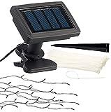 Luminea Schirmbeleuchtung: Solar-LED-Sonnenschirm-Lichterkette mit 8 Strängen und 72 LEDs, IP44 (Sonnenschirmbeleuchtung Solar)