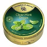 Cavendish & Harvey Clear Mint Drops - Bonbons, 200g in Metalldose