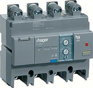 Hager x250 - Bloque diferencial para x250 4 polos 160a regulable montaje inferior