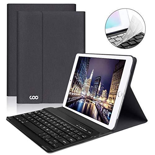 iPad Keyboard Case 9.7 for New iPad 2018 (6th Gen) - iPad Pro 2017 (5th Gen) - iPad Air 2/1 - COO Detachable Wireless Bluetooth Keyboard - Magnetic Auto Sleep/Wake (Grey with Black Keyboard)