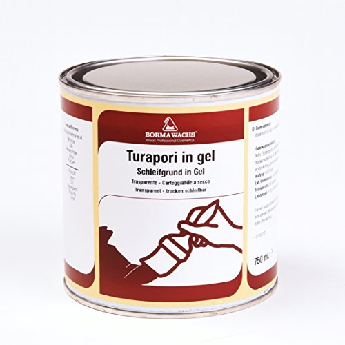 Borma Wachs - Fondo Nitro para madera en gel (Turapori) - 750 ml - Color Transparente