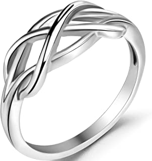 Jude Jewelers Stainless Steel Knot Wave Braided Promise Statement Anniversary Ring