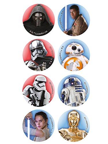 Dekora 231240 Star Wars kleine Cupcake Toppers aus Esspapier-16 Stück