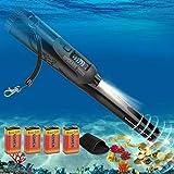 FYBFUP Portátil Detector de Metales Pinpointer - Pantalla LCD IP68 Impermeable 12 Metros Submarino para Niños y Adultos Detectan Oro Plata - Negro