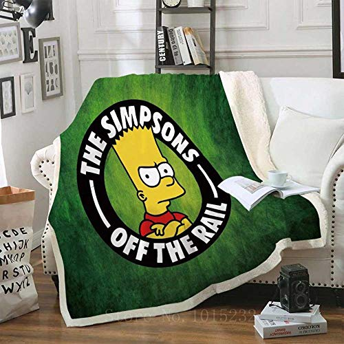 LIFUQING Funda De Sofá Simpsons Manta De TV Manta De Colcha Manta De Camping Suave Adult-150X200Cm