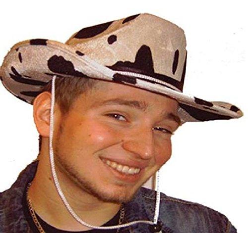 Mondial-Fete - 4 Chapeaux Cow Boy Vache Velours