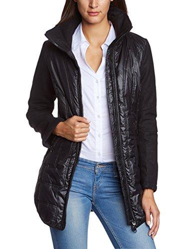 Fornarina Damen Jacke BIF3A87N27700, Gr. 40 (Herstellergröße: L), Schwarz (black 00)