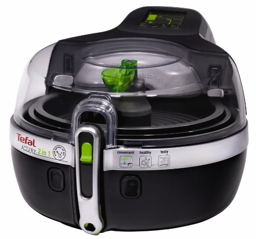 An image of the Tefal YV960140, ActiFry, Air Fryer, 2-in-1, (6 Portions), Black, 1.5 Kg Capacity