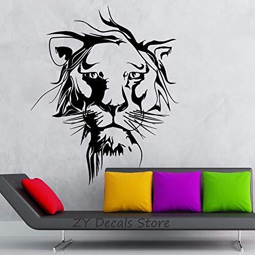 yaofale Lion Wandtattoos Dschungel Tier Vinyl Wandaufkleber Für Kinderzimmer Jungen Schlafzimmer Dekoration Wandkunst Vinilos Paredes Tapete 98x119cm