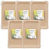 HEKU 30966: 100 Bio-Pappteller 13x20cm be Green, Frischfaser, FSC-Zertifiziert,
