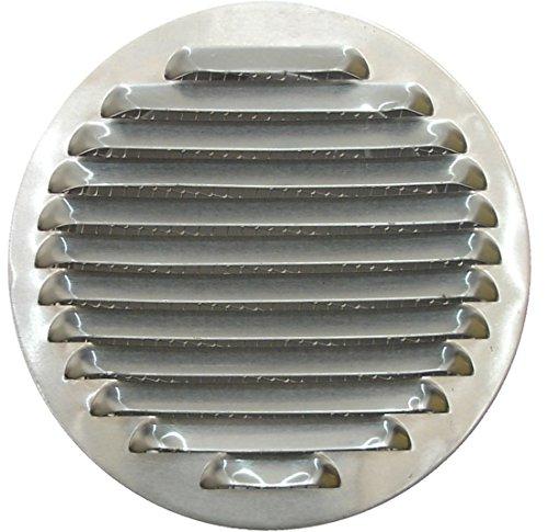 Rond Aluminium Ventilatierooster Deksel Ø 80 mm, Rond Aluminium Ventilatierooster met Gaas 8 cm, Uitlaatpijp Ventilatierooster, Afzuigkap Afzuigrooster met Net.