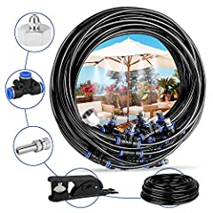 Great Atomization Effect - Deyard uses professional quality drip hose made of UV-resistant materials, unmatched resistance to chemicals. Effective outdoor cooling and real atomization effect that suitable for trampoline use and enjoy summer fun. High...