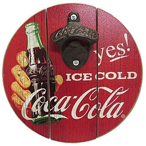 Tamaño de 20 cm - Abrebotellas redondo de Coca-Cola Colgante de pared...