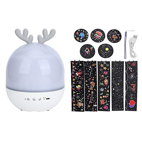 360 grados Luz de proyección, lámpara de proyección giratoria, carga USB linda al lado de la luz nocturna del escritorio para la decoración del dormitorio del hogar