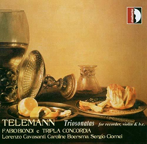 Georg Philipp Telemann: Trisonaten für Blockflöte, Violine & B.c.