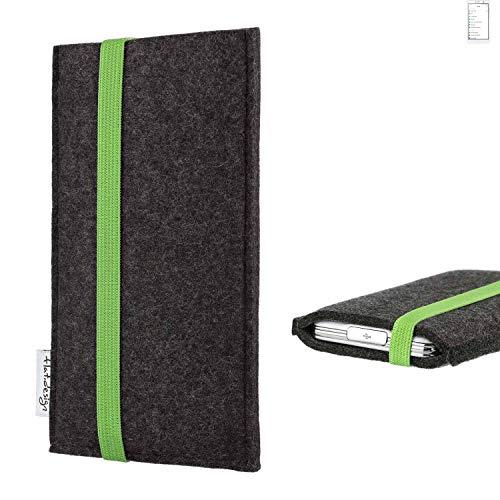 flat.design vegane Handy Tasche Coimbra für Doogee Y6 MAX - Schutz Hülle Tasche Filz vegan fair grün