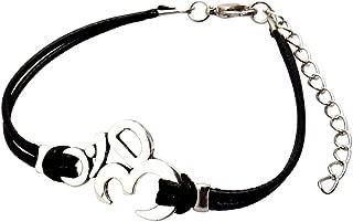India Yoga Hindu Buddhist Bracelet AUM Hinduism Women Men Leather Bracelet The Handmade Silver Religious Symbol Bracelet