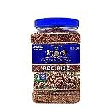 Golden Crown Red Rice - Nutritious High Protien Fiber NON GMO Gluten Free Kosher Halal Red Rice - 32 OZ (2LBS)