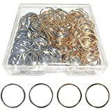 200 PCS Hair Braid Rings Hair Hoops Braid Hair Clip Accessories for Women and Girls Dreadlocks, 2 Color(Gold and Sliver)