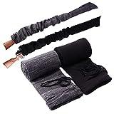 Tildaks 2PCS Rifle Gun Sock Sleeve, Anti-Rust 52'' Rifle Gun Cover with Drawstring Closure, Silicone Treated Knit Soft Gun Protector Sock Case for Shotguns Rifles