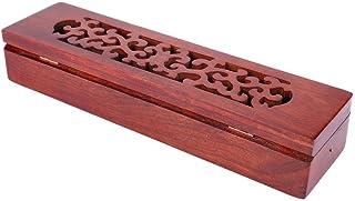 Durable Coffin Incense Burner, Vietnam Wooden Incense Burner, Nanmu for Home Decor Spa Use Office Decor Aromatherapy Use(H...