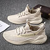 Aerlan Gym Shoes Lightweight Shoes,Zapatos de Malla Transpirables Ligeros para Hombres y Mujeres, Zapatos de Senderismo Casuales-Beige_37,Botas de montaña Deportivas