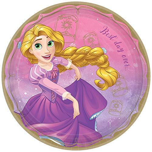 'Disney Princess' Rapunzel Round Party Paper Plates 9', 8 Ct.