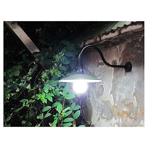 Apliques de pared Exterior,Aire Libre Impermeable IP45 Lámpara de Pared Verde Industrial Esmalte Sombra lámpara de jardín Vintage Antiguo E27 Apliques para Escaleras Pasillo Balcón Fuera de Pared
