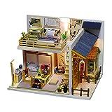 Colcolo Rompecabezas de Madera Modelo de Casa de Muñecas Habitación de Muñecas en Miniatura con