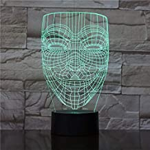 Boys Lamp 3D Unique Teenager Battery Operated for Office Decoration Glowing Base Led Night Light Lamp