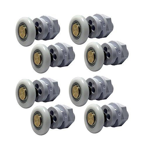 Set di 8 rotelle per la porta della doccia, codice prodotto 301-12-25-8