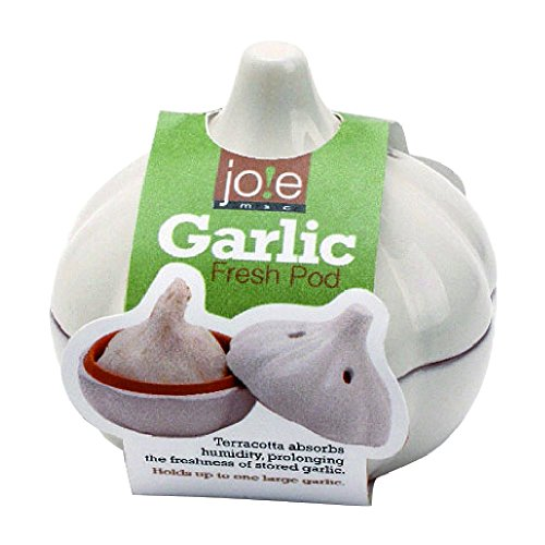 Joie Terracotta Garlic Keeper, Vented Storage Container, White