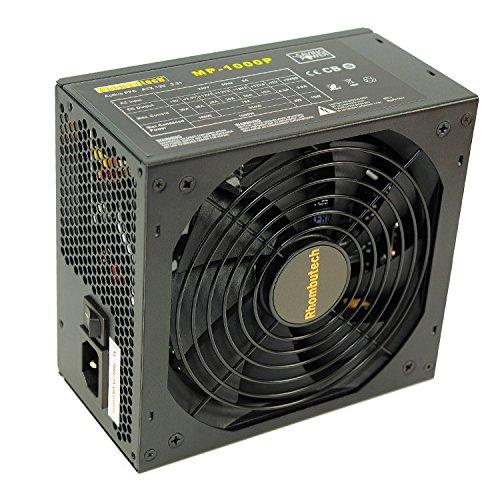 Rhombutech® 1000 Watt ATX Netzteil - Gaming - Saving Power - Kabelmanagement - Aktiv PFC - 140mm kugelgelagerter Lüfter - ! Hinweis: Dieses Netzteil ist Nicht für Bitcoin-Miner geeignet !