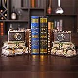 Lindhb Sujetalibros Estable Sólido 2 Piezas de Ornamento clásico Retro de la cámara de Arte Booken for la Escuela Biblioteca Ministerio del Interior Antideslizante Regalo Decorativo